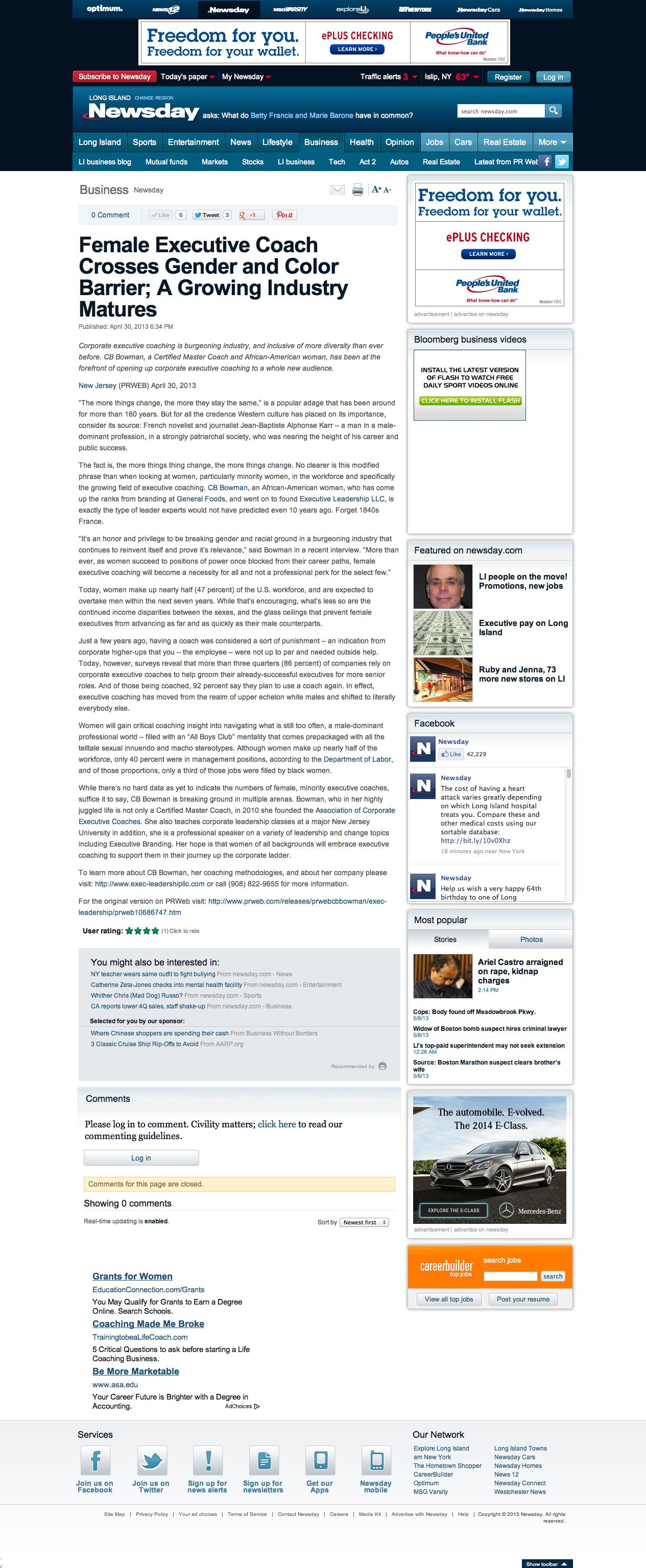 CB Press Release newsday2013